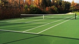 Tennis and Basketball Courts Complete