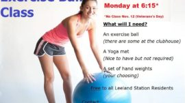 Exercise Ball Class